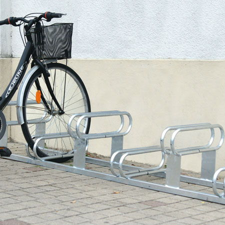 Bicycle and steel stands