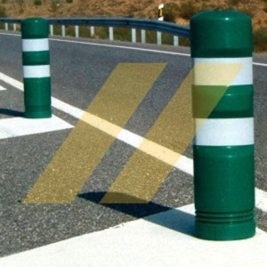 Flexible road bollards